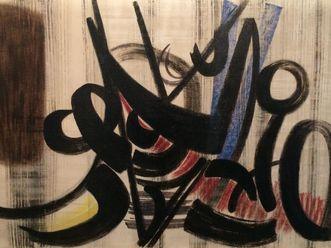 Sammlung Domnick, Ausschnitt aus Hans Hartung T 1948-18 (»formes noires«), 1948