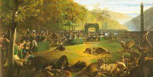 Dianenfest bei Kloster Bebenhausen, Gemälde von Johann Baptist Seele, 1812