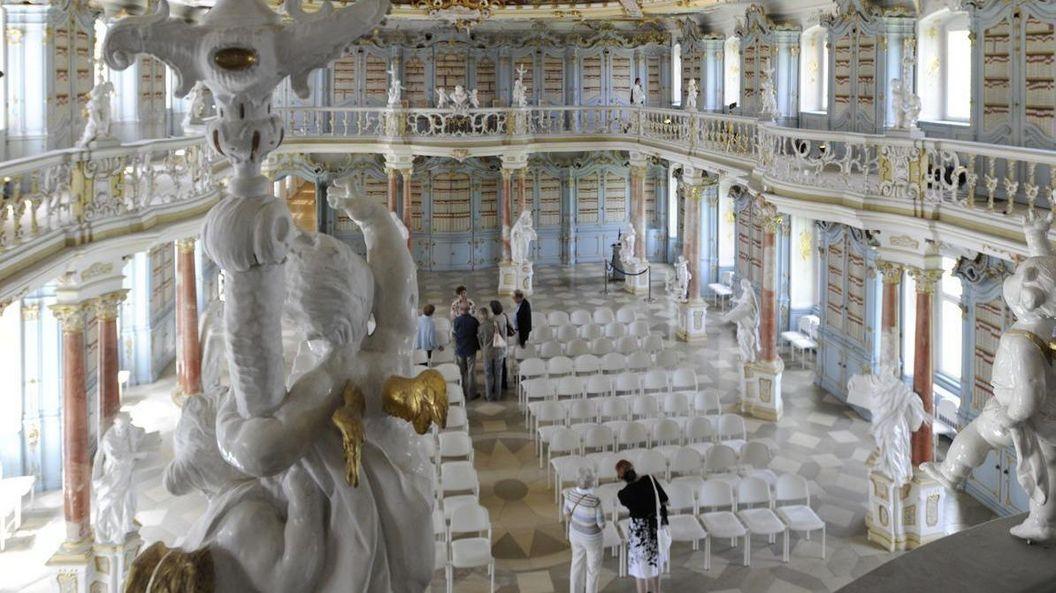 Kloster Schussenried, Innenansicht, Bibliothekssaal
