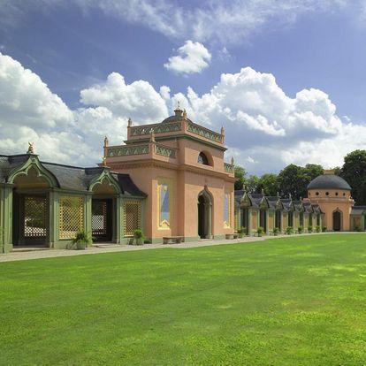 Hof der Moschee im Schlossgarten von Schloss Schwetzingen