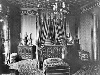 Wilhelma Stuttgart, Zimmer im Schloss 1925