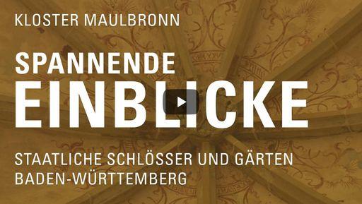 """Startbildschirm des Films """"Spannende Einblicke mit Michael Hörrmann: Kloster Maulbronn"""""""