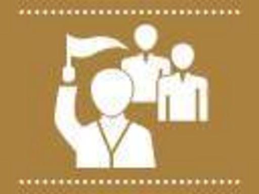 Symbol für Führungen; Illustration: Staatliche Schlösser und Gärten Baden-Württemberg, JUNG:Kommunikation GmbH