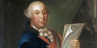 Porträt von Herzog Carl Eugen im Schloss Solitude in Stuttgart