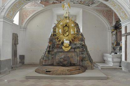The holy sepulcher on Holy Saturday, Schöntal Monastery. Image: Staatliche Schlösser und Gärten Baden-Württemberg, Felix Muhle