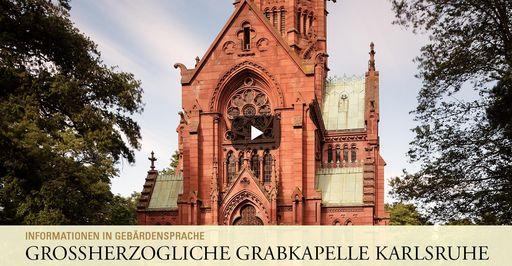 """Startbildschirm des Filmes """"Großherzogliche Grabkapelle Karlsruhe: Informationen in Gebärdensprache"""""""