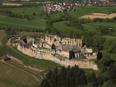 Hochburg bei Emmendingen von oben