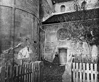 Südlicher Zugang der Klosterkirche Lorch, Fotografie Jakob August Lorent; Foto: Landesamt für Denkmalpflege