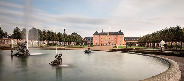 Schloss und Schlossgarten Schwetzingen, Gartenfassade; Foto: Staatliche Schlösser und Gärten Baden-Württemberg, Günther Bayerl