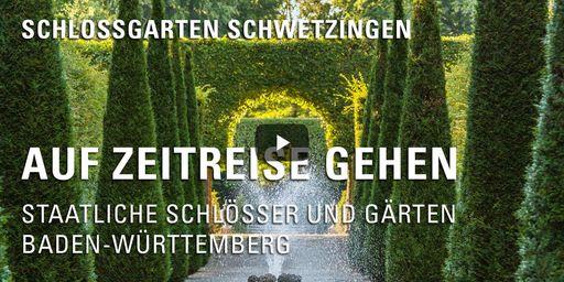 """Startbildschirm des Filmes """"Zeitreise mit Michael Hörrmann: Schlossgarten Schwetzingen"""""""