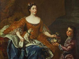 Residenzschloss Rastatt, Porträt Augusta Maria Johannas, Alexis Simon Belle, 1724