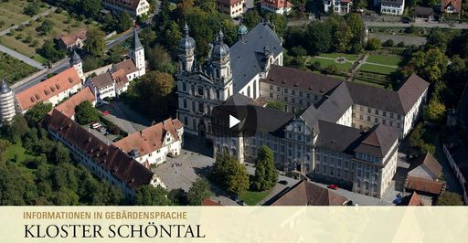 """Startbildschirm des Filmes """"Kloster Schöntal: Informationen in Gebärdensprache"""""""