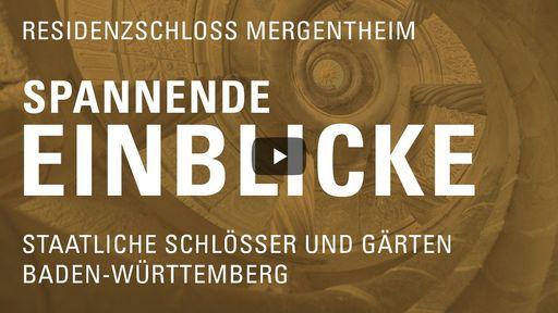 """Startbildschirm des Films """"Spannende Einblicke mit Michael Hörrmann: Residenzschloss Mergentheim"""""""