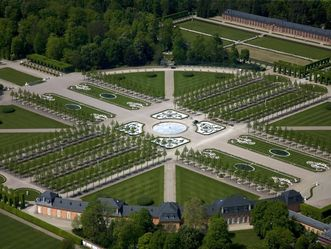 Schloss und Schlossgarten Schwetzingen, Luftansicht