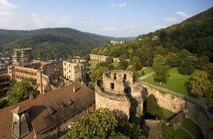 Schloss Heidelberg, Luftaufnahme