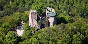 Burg Alt-Eberstein von oben