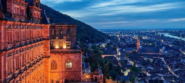 Schloss Heidelberg, Blick auf die Stadt Heidelberg
