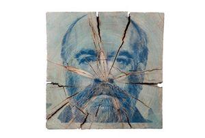 Porträt Jürgen Knubben, Fotografie auf Holz, von Robert Hak, 2012