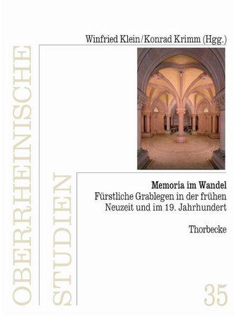 """Titel des Sammelbandes """"Memoria im Wandel""""; Gestaltung: Thorbecke Verlag"""