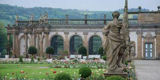 Die Orangerie im Garten von Schloss Weikersheim