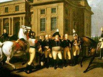 Ausritt Herzog Friedrichs II. bei Schloss Monrepos, Johann Baptist Seele, um 1803