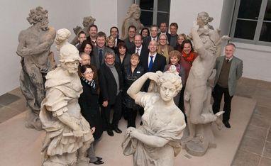 Gründungsmitglieder des Vereins; Foto: Verein Schlösser, Burgen, Gärten Baden-Württemberg e.V.