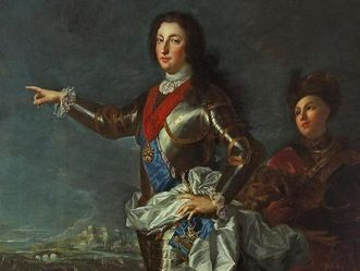 Residenzschloss Rastatt, Porträt Louis' I. von Orleans, Alexis Simon Belle, 1724