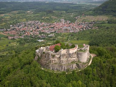 Festungsruine Hohenneuffen von oben