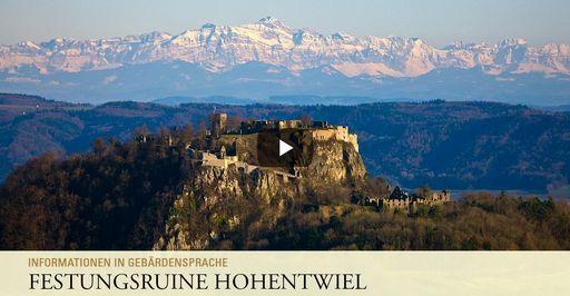 """Startbildschirm des Filmes """"Festungsruine Hohentwiel: Informationen in Gebärdensprache"""""""