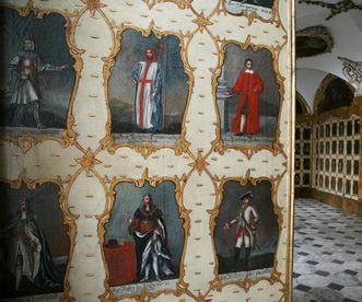 Painting gallery in the Order Hall, Schöntal Monastery. Image: Foto Besserer