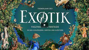 """Startbildschirm des Filmes """" Exotik. Faszination & Fantasie in den Schlössern, Gärten und Klöstern"""""""