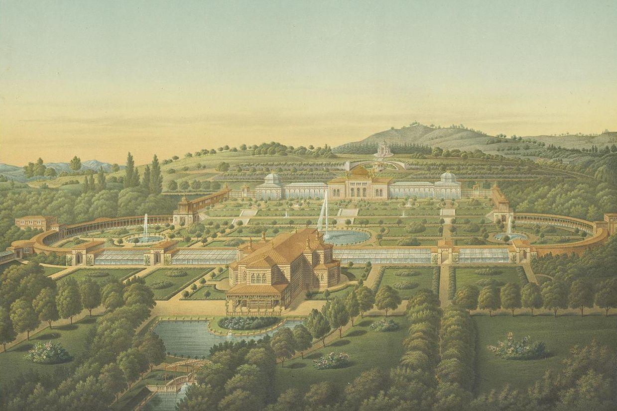 Wilhelma, Ansicht von 1855, Karl Ludwig von Zanth
