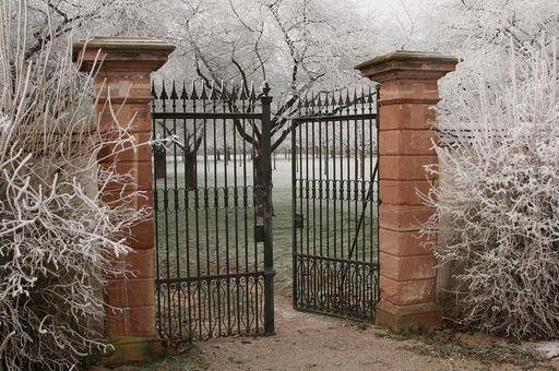 Eingang Kirschgarten in Schwetzingen