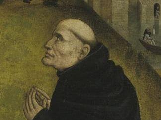 Christus-Vision des Bernhards von Clairvaux, Tafelbild um 1485