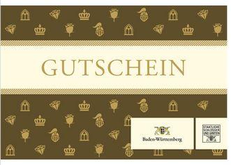 Titel der Gutscheinkarte; Gestaltung: Staatliche Schlösser und Gärten Baden-Württemberg, JUNG:Kommunikation