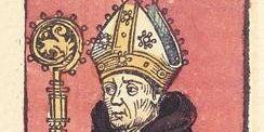 Bernhard von Clairvaux, Abbildung in der Schedelschen Weltchronik, 1493