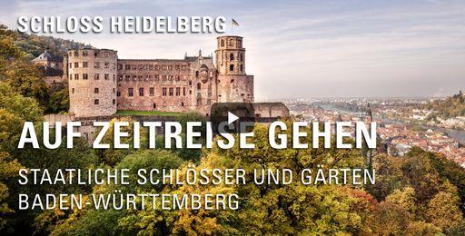 """Startbildschirm des Films """"Auf Zeitreise gehen: Schloss Heidelberg"""""""