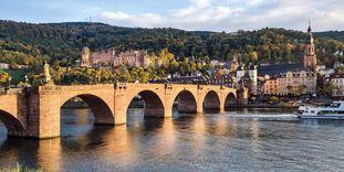 Château de Heidelberg, vue aérienne