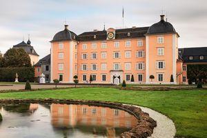 Schloss und Schlossgarten Schwetzingen, Außen, Gartenseite