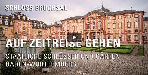 """Startbildschirm des Films """"Auf Zeitreise gehen: Schloss Bruchsal"""""""