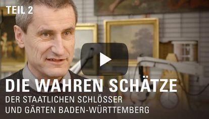 """Startbildschirm des Filmes """"Die wahren Schätze der Staatlichen Schlösser und Gärten Baden-Württemberg"""", Teil 2"""