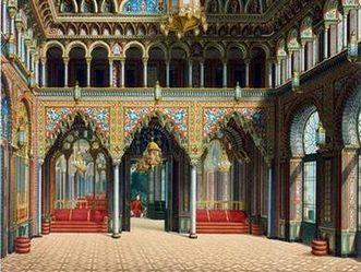 Wilhelma Stuttgart, Entwurf Eingangshalle Maurisches Landhaus