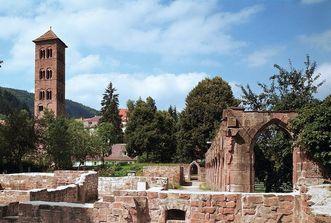 Abbaye de Hirsau, tour des hiboux; l'image: Landesmedienzentrum Baden-Württemberg, Dieter Geißler