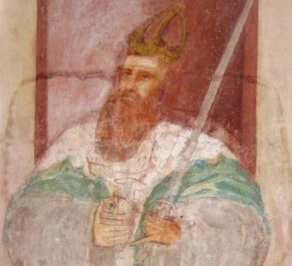 Emperor Friedrich Barbarossa, mural in the Lorch Monastery church. Image: Ulrich Rund
