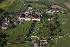 Kloster und Schloss Salem, Luftaufnahme des Geländes