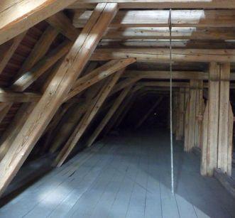 Dachstuhl der Marienkapelle von Kloster Hirsau; Foto: Stephan Kohls