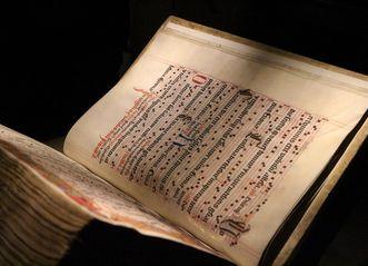 Seite mit Noten aus dem Lorcher Chorbuch, Anfang 16. Jahrhundert; Foto: Ulrich Rund
