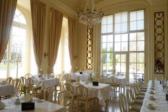 Im Schlossrestaurant Schwetzingen; Foto: Michael Lacher