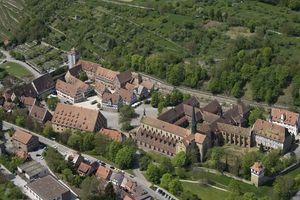 Kloster Maulbronn, Klosteranlage von oben; Foto: Staatliche Schlösser und Gärten Baden-Württemberg, Achim Mende