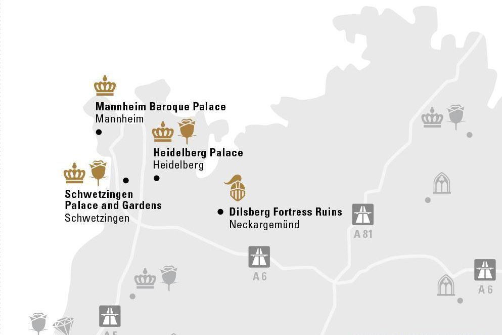 Proud residences of the Electoral Palatinate